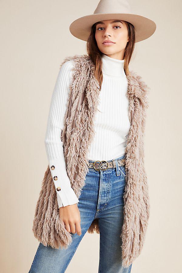 Slide View: 1: Tonia Faux Fur Vest