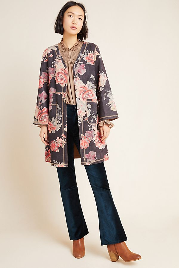 Slide View: 1: Emilie Sueded Kimono Jacket