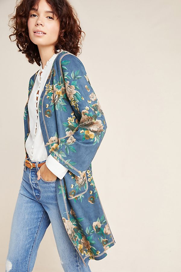Slide View: 1: Emilie Sueded Kimono Jacket
