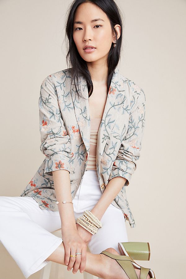 Slide View: 1: Sally Embroidered Blazer