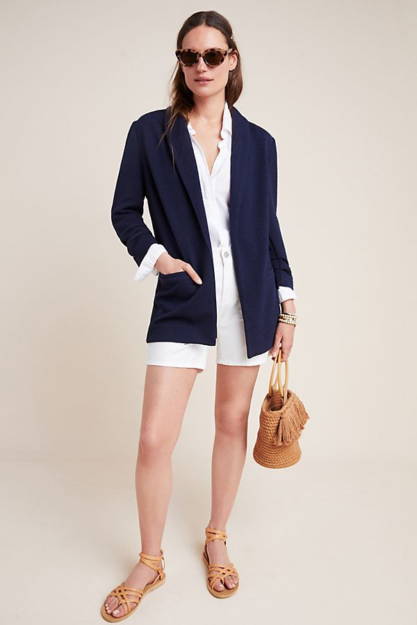 Slide View: 1: Harlyn Ruched Blazer