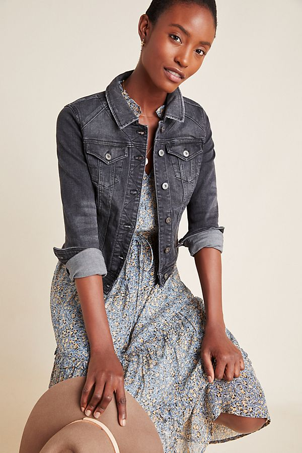Slide View: 1: Pilcro Washed Denim Jacket