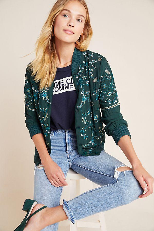 Slide View: 1: Sheena Embroidered Jacket