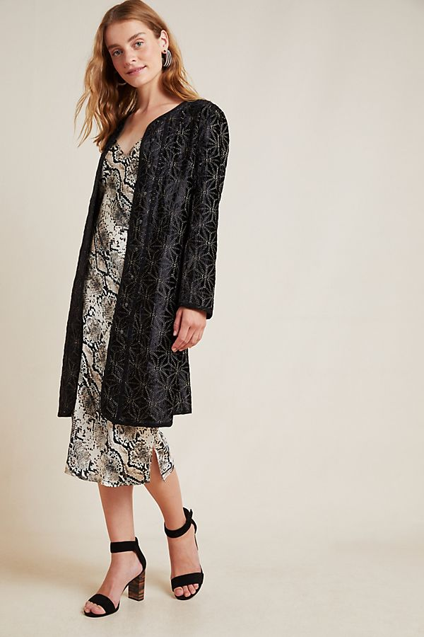 Slide View: 1: Chamonix Stitched Velvet Duster