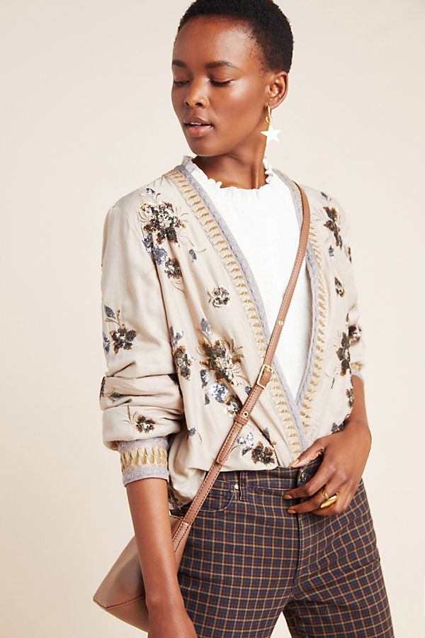 Slide View: 1: Marisol Sequined Jacket