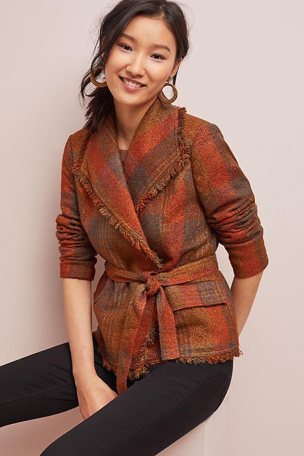 14070089d1d6 Sophie Wrap Tweed Blazer