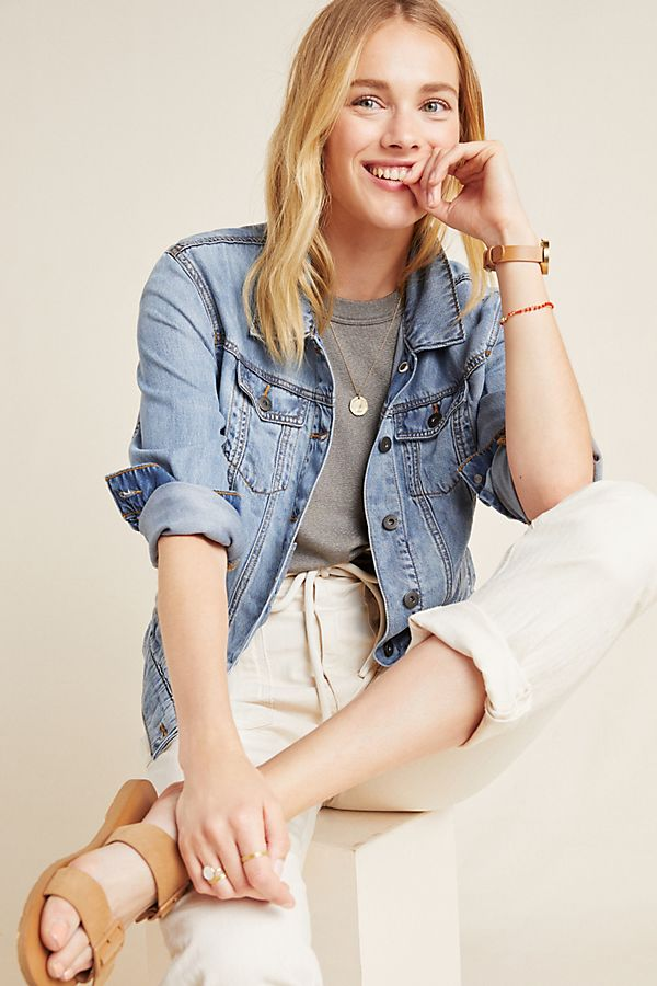 Slide View: 1: Pilcro Relaxed Trucker Jacket