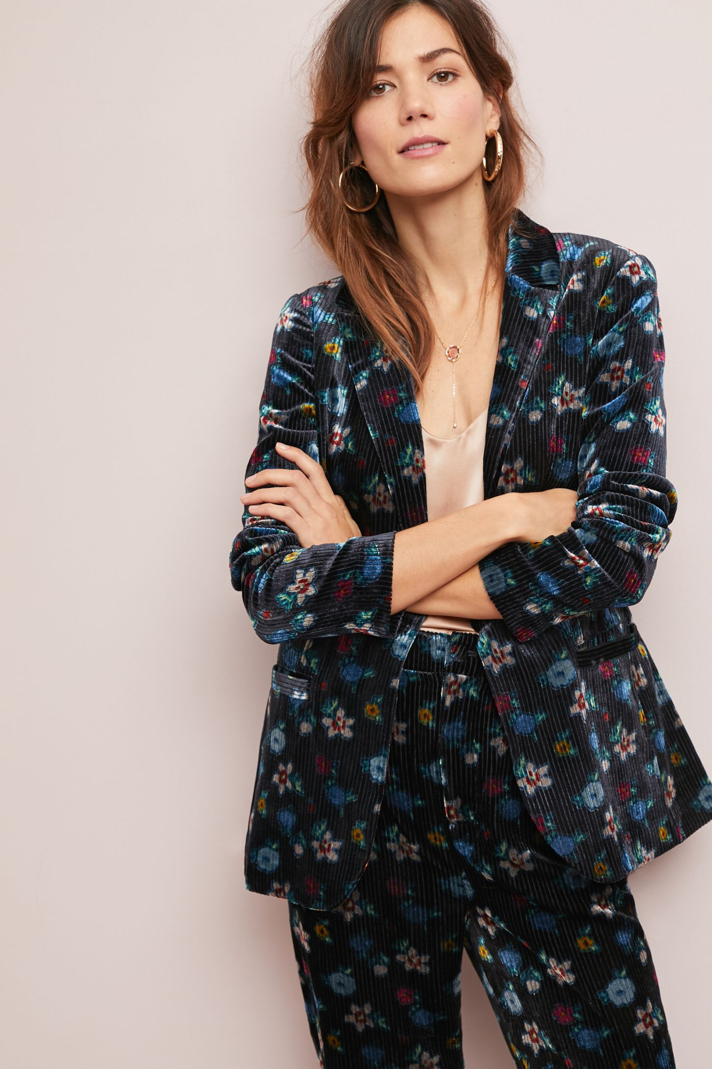 41b6b514aaead Blooming Velvet Blazer | Anthropologie