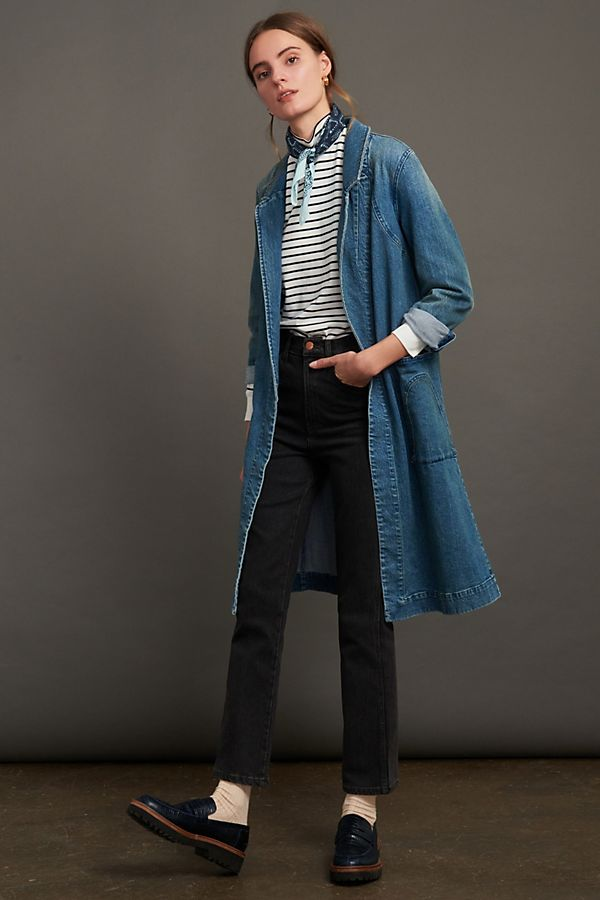 Slide View: 1: Peggy Denim Duster Jacket