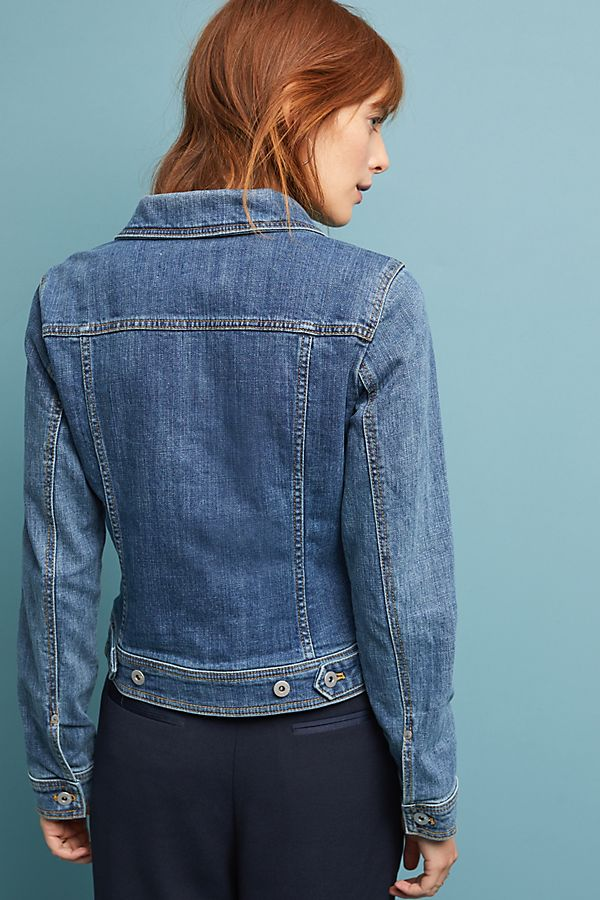 00a50719840 Slide View  2  Pilcro Denim Trucker Jacket
