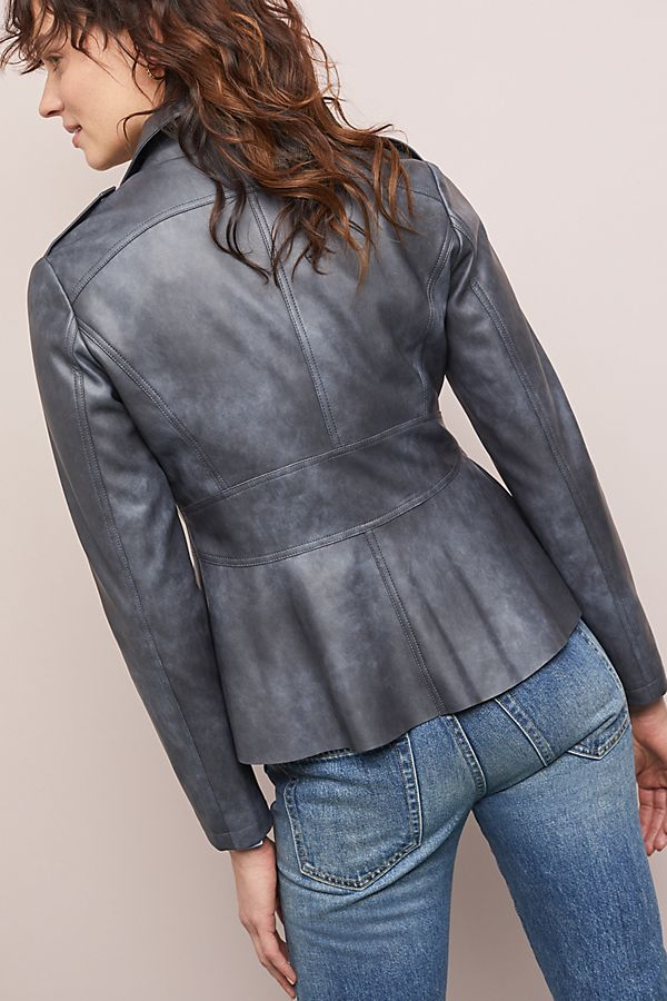 cab698621829a Slide View  2  Peplum Faux Leather Moto Jacket
