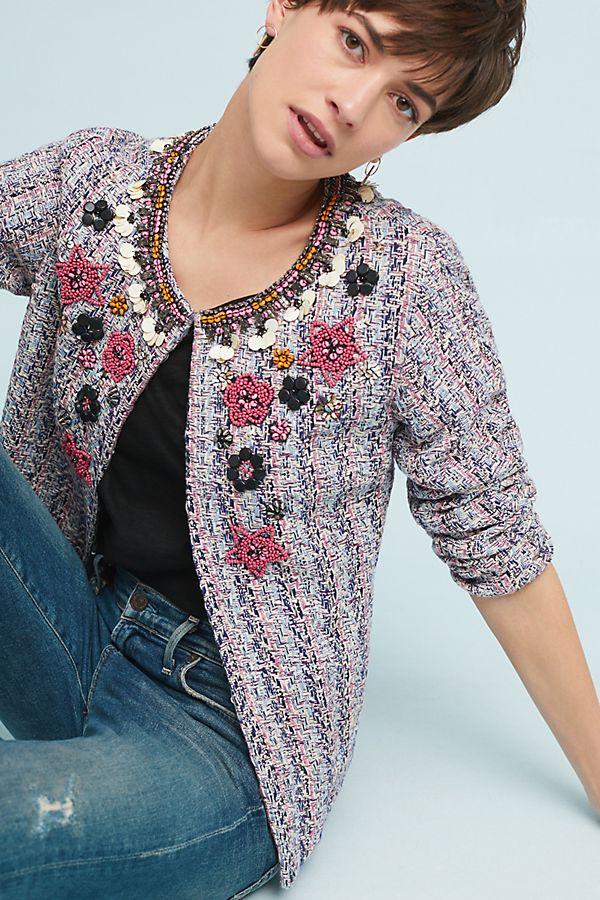 70899bb6402c9 Suzy Embellished Tweed Jacket