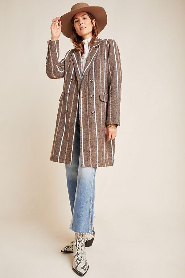 Slide View: 1: Daria Striped Coat
