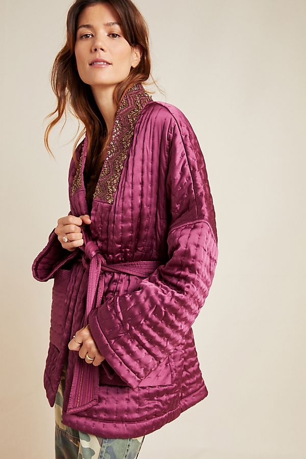 Slide View: 1: Phoebe Embellished Kimono