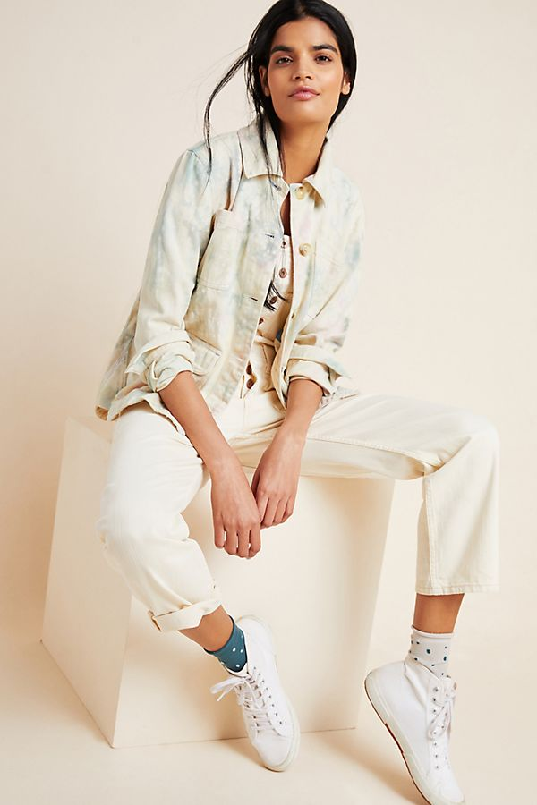 Slide View: 1: Tie-Dyed Utility Jacket