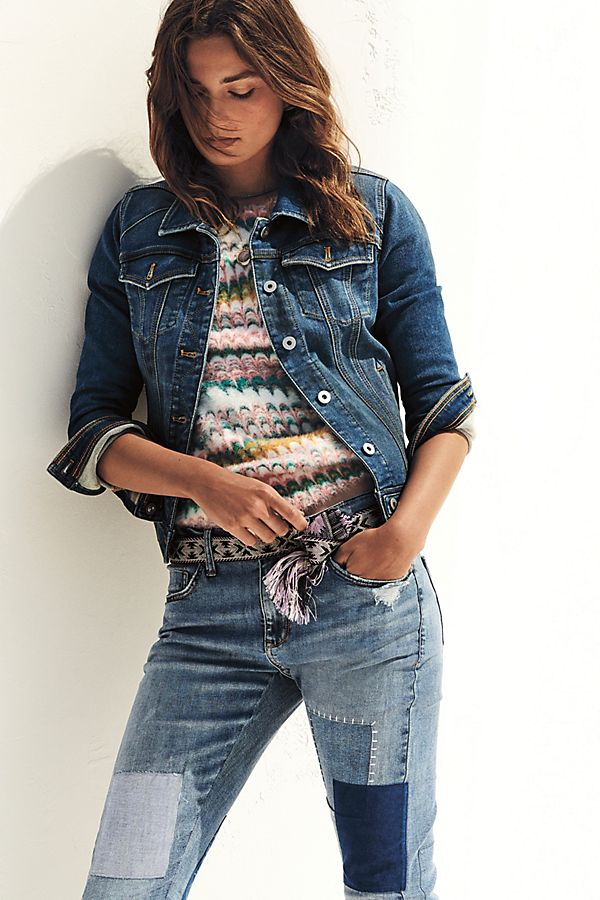 Slide View: 1: Pilcro Classic Denim Jacket