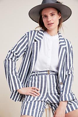 Slide View: 1: Cabana Striped Blazer