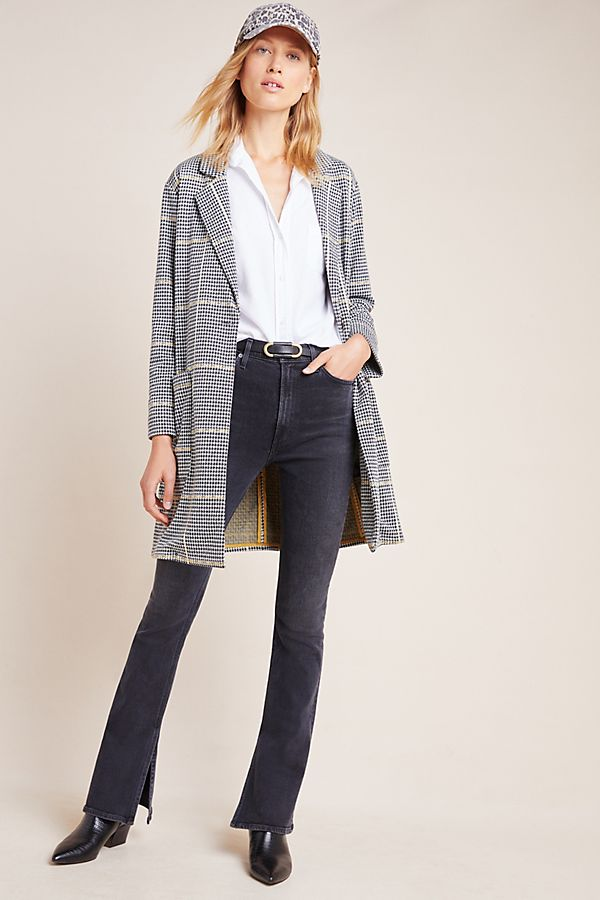 Slide View: 1: Sanctuary Plaid City Blazer