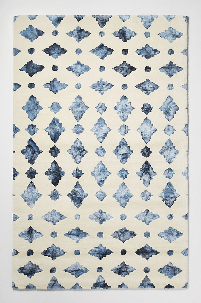 Moroccan Tile Rug Swatch   Anthropologie