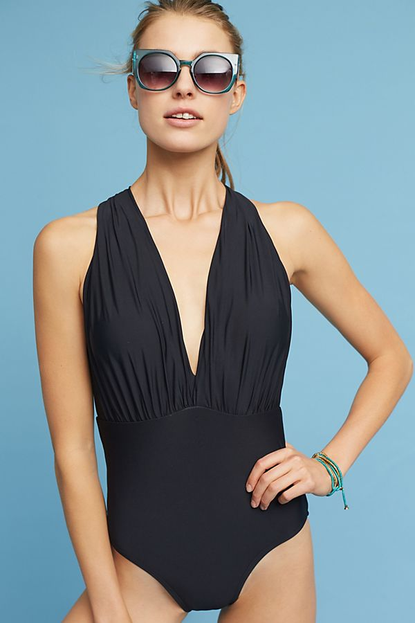 3350f8da662ae4 Anthropologie Plunge One-Piece Swimsuit | Anthropologie