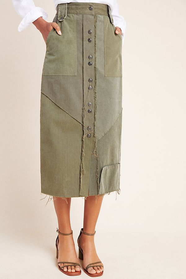 Slide View: 4: Ryanne Utility Midi Skirt