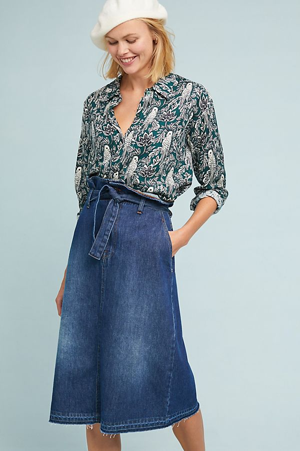 d0dba587a4 Paperbag-Waisted Denim Skirt | Anthropologie