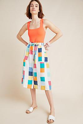 Slide View: 1: Corey Lynn Calter Piet Linen Skirt