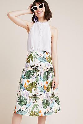 Slide View: 1: Corey Lynn Calter Palm Linen Skirt