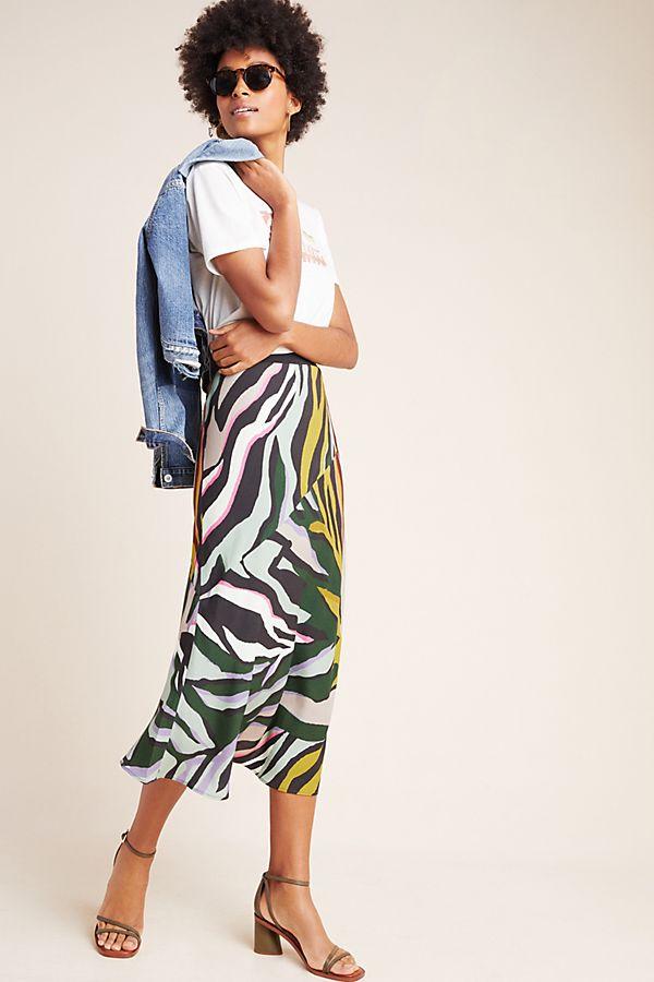 Corey Lynn Calter Zebra Bias Midi Skirt by Corey Lynn Calter