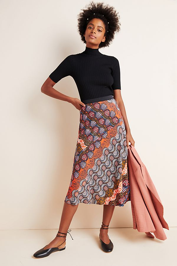 Slide View: 1: Corey Lynn Calter Bias Midi Skirt