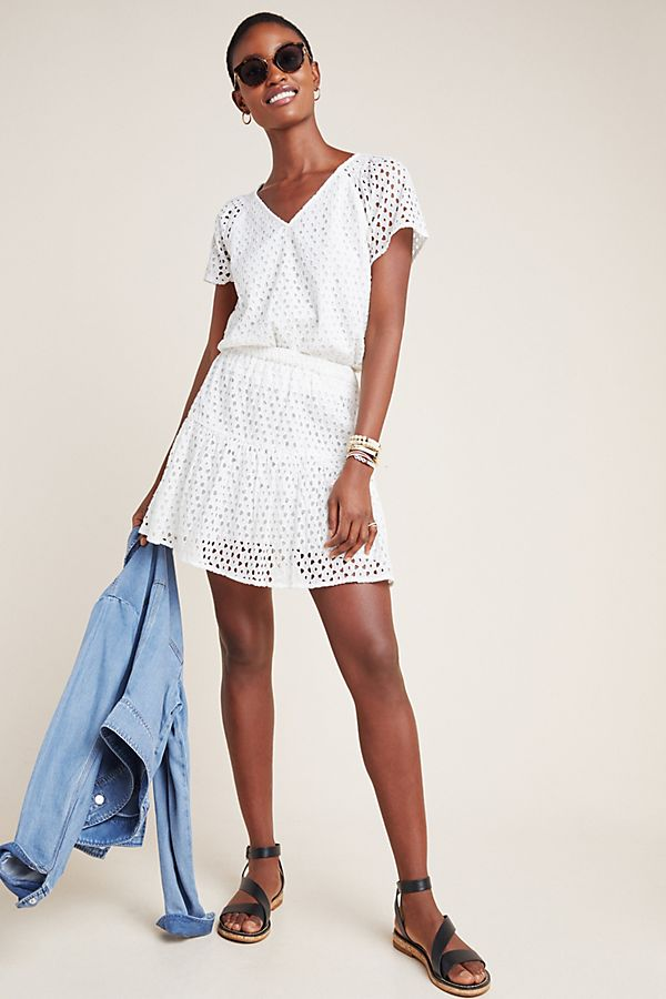 Slide View: 1: Frye Talia Eyelet Mini Skirt
