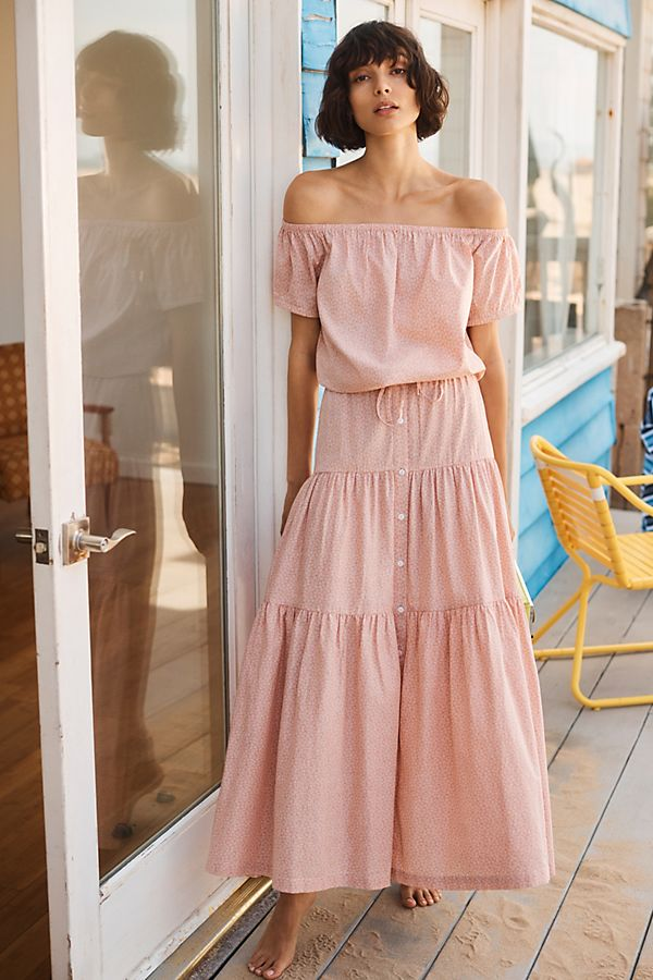 Slide View: 1: Frye x Anthropologie Elspeth Maxi Skirt