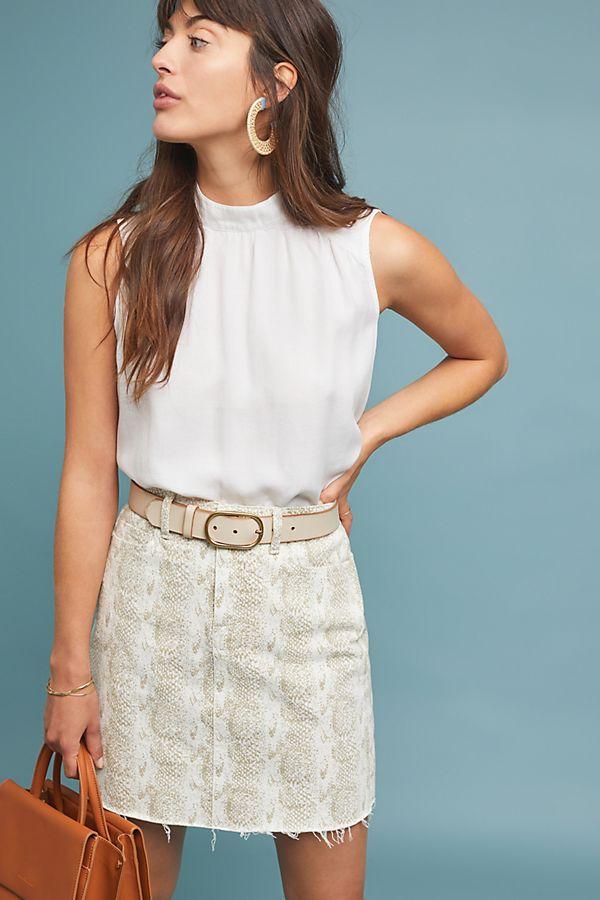 5fef9c3fe Paige Aideen Denim Mini Skirt | Anthropologie