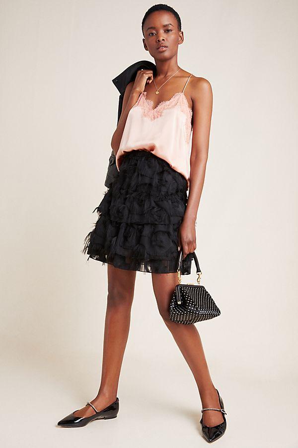 Slide View: 1: Alida Textured Mini Skirt