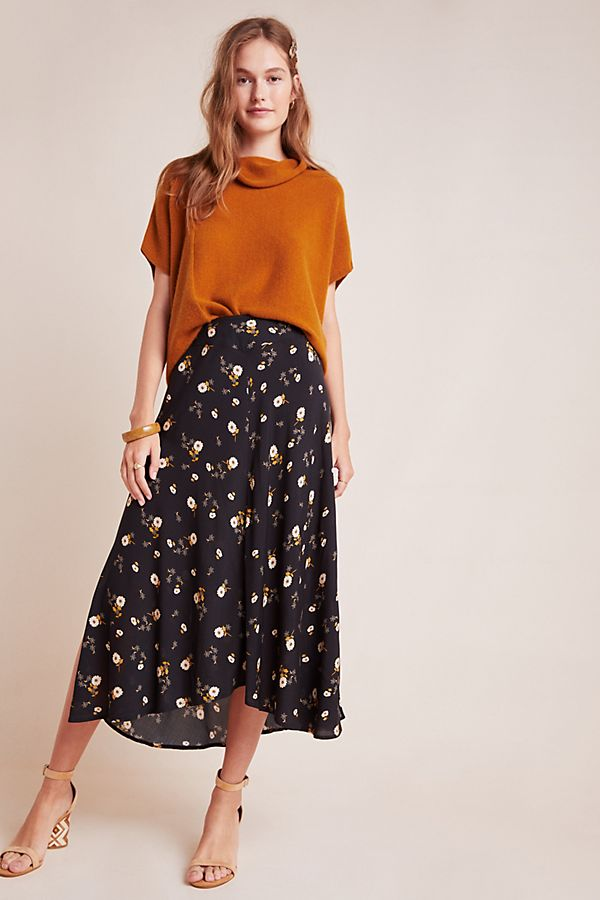 Slide View: 1: Willa Floral Midi Skirt