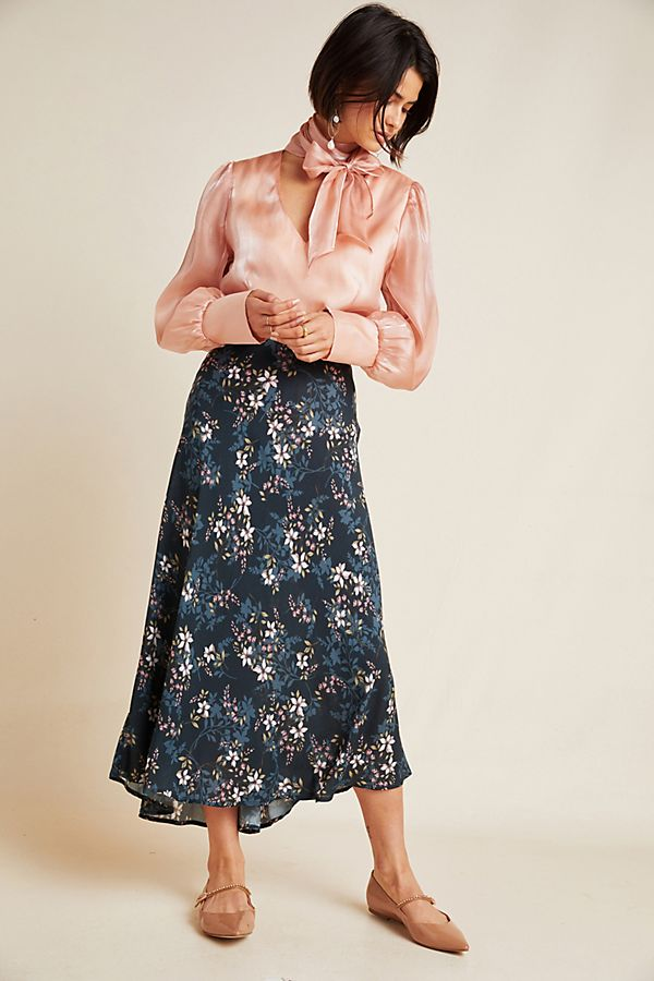Slide View: 1: Shay A-Line Midi Skirt