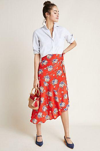 26c5c627a0297 Yumi Kim Asymmetrical Floral Skirt