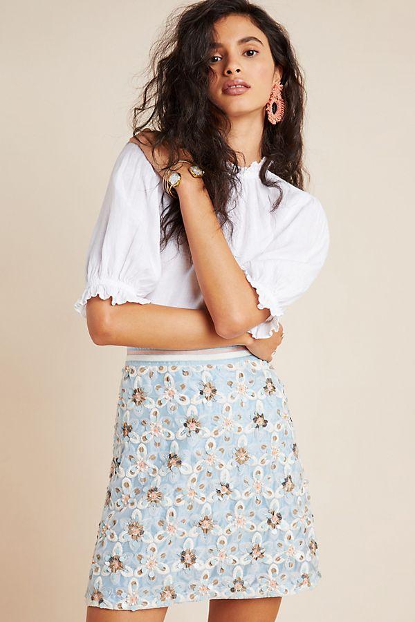 Slide View: 1: Persephone Beaded Mini Skirt