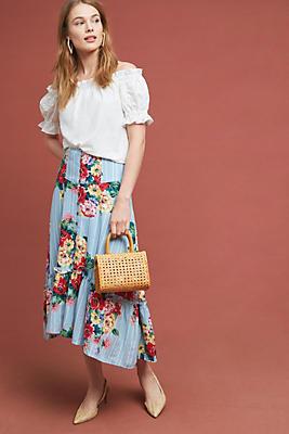 Slide View: 1: Claudette Midi Skirt