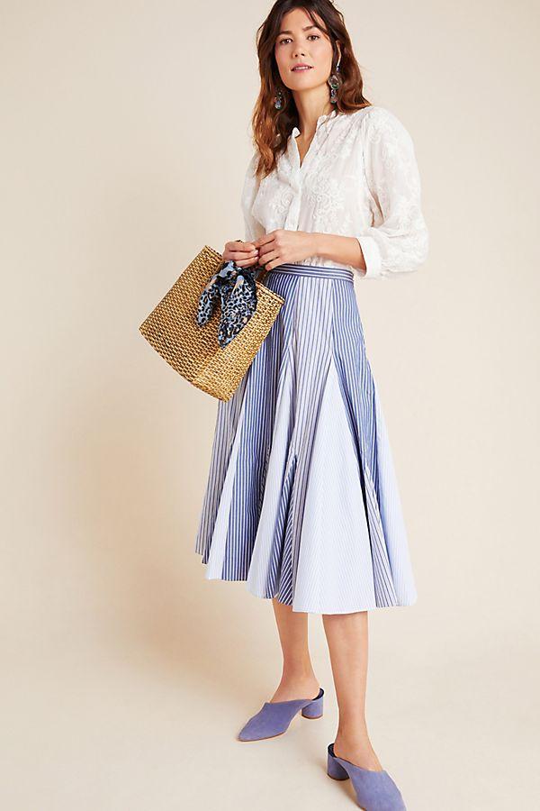 Slide View: 1: Annie A-Line Midi Skirt