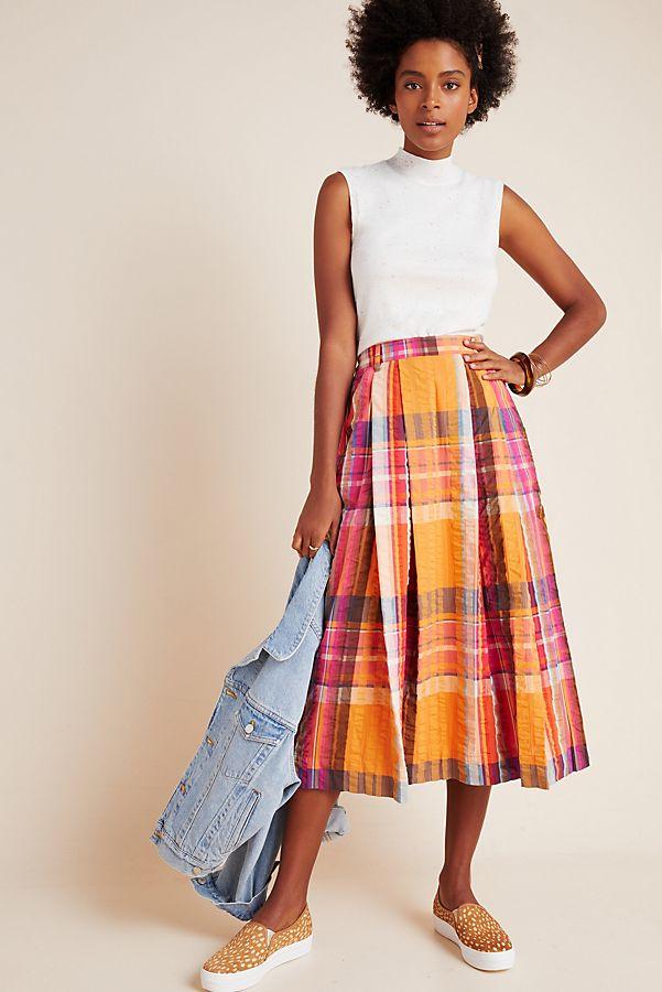 Slide View: 1: Pippa Pleated Midi Skirt