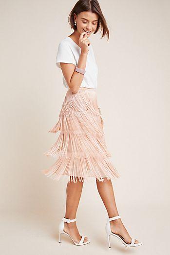 2af5146b2b2 Velma Fringed Midi Skirt