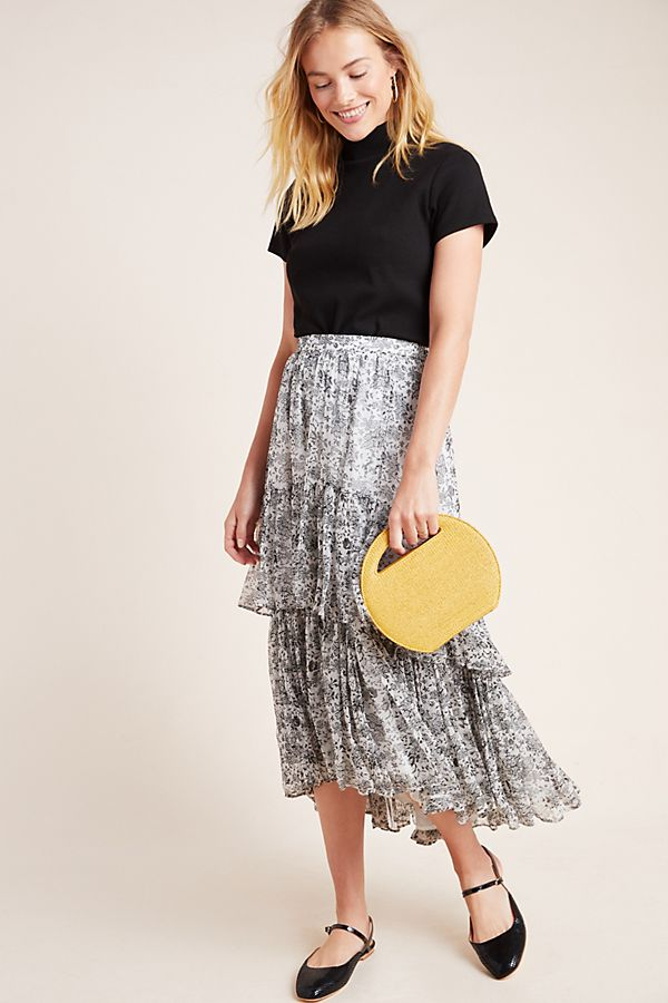 Slide View: 1: Persephone Tiered Maxi Skirt