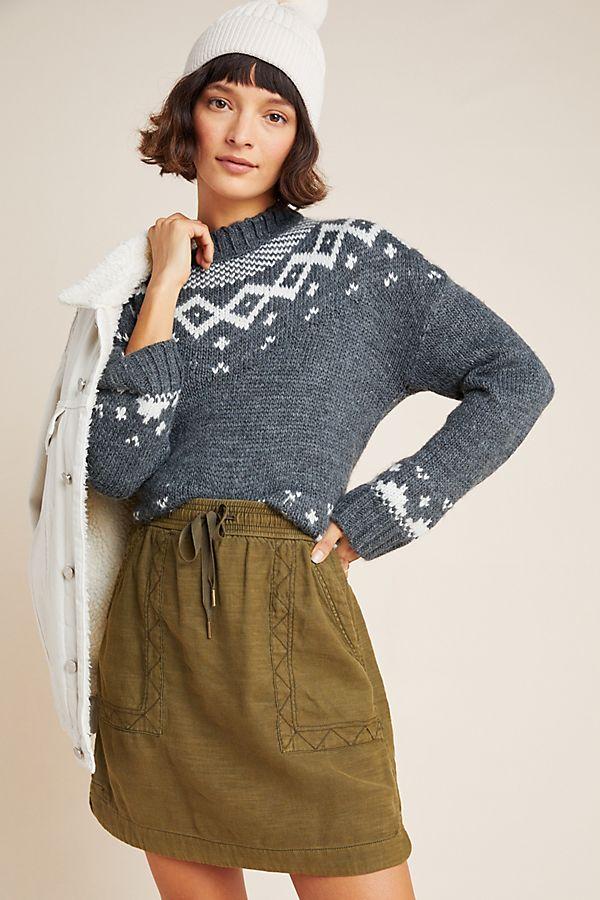 Slide View: 1: Pilcro Lea Utility Mini Skirt