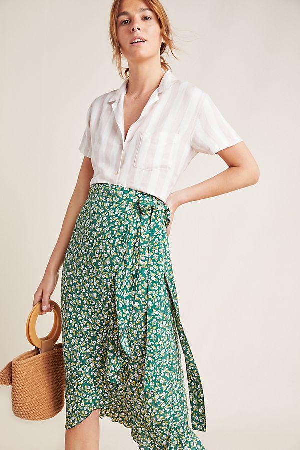 Slide View: 1: Faithfull Celeste Wrap Midi Skirt