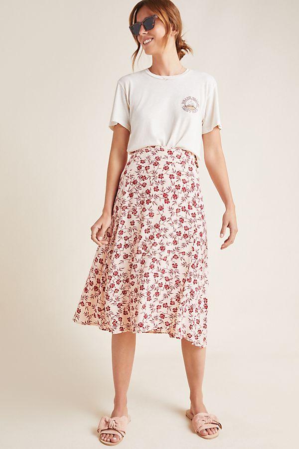 Slide View: 1: Faithfull Valois Floral Wrap Skirt