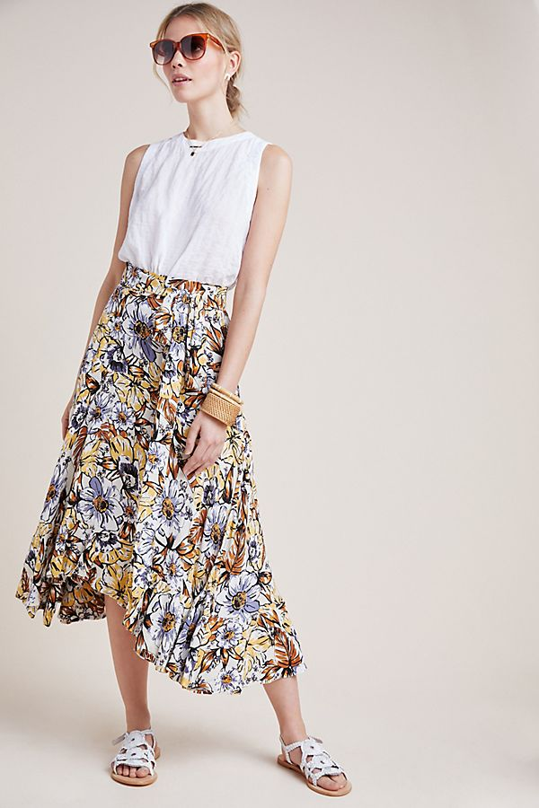 Slide View: 1: Faithfull Kamares Floral Skirt