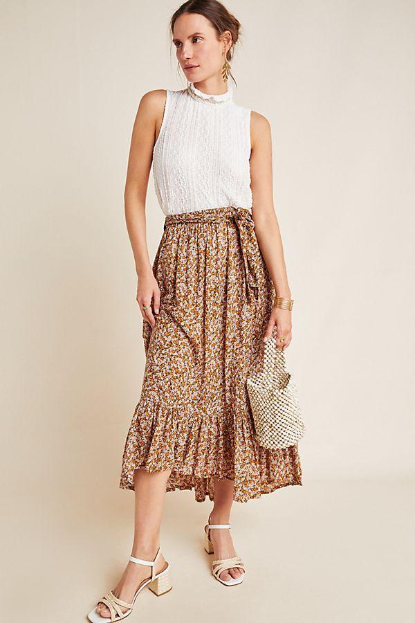 Slide View: 1: Faithfull Antonia Midi Skirt