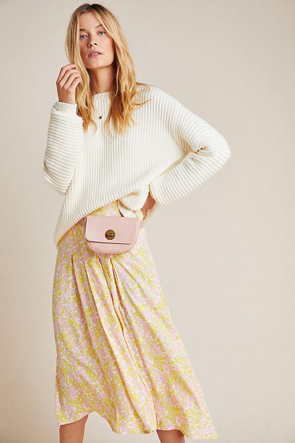 Slide View: 1: Faithfull Aya Pleated Midi Skirt