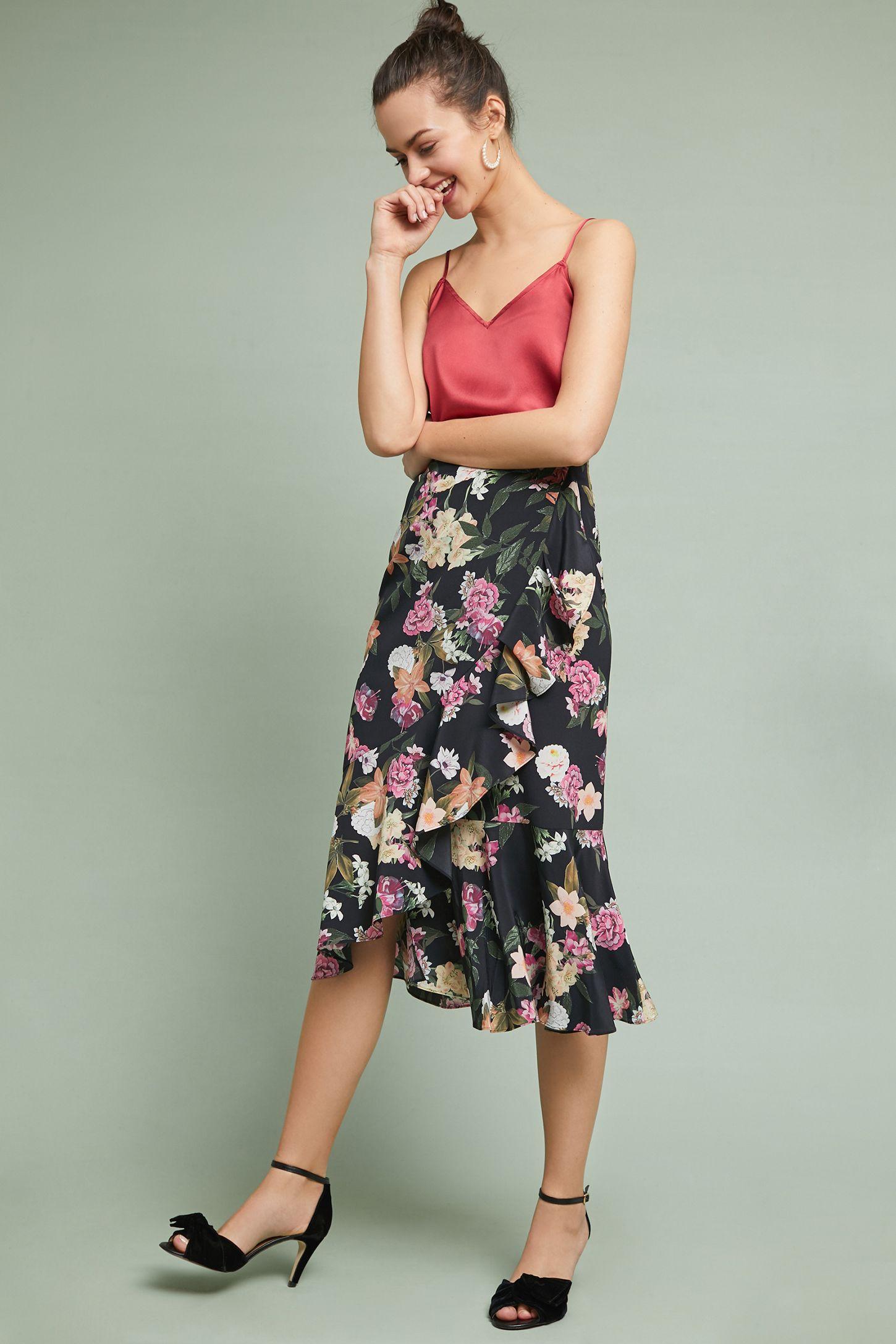5453f2703e1 Cassidy Ruffled Midi Skirt